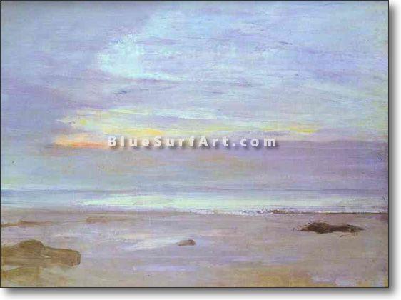 Crepuscule in Opal: Trouville - £124.99 : Canvas Art, Oil Painting Reproduction, Art Commission, Pop Art, Canvas Painting