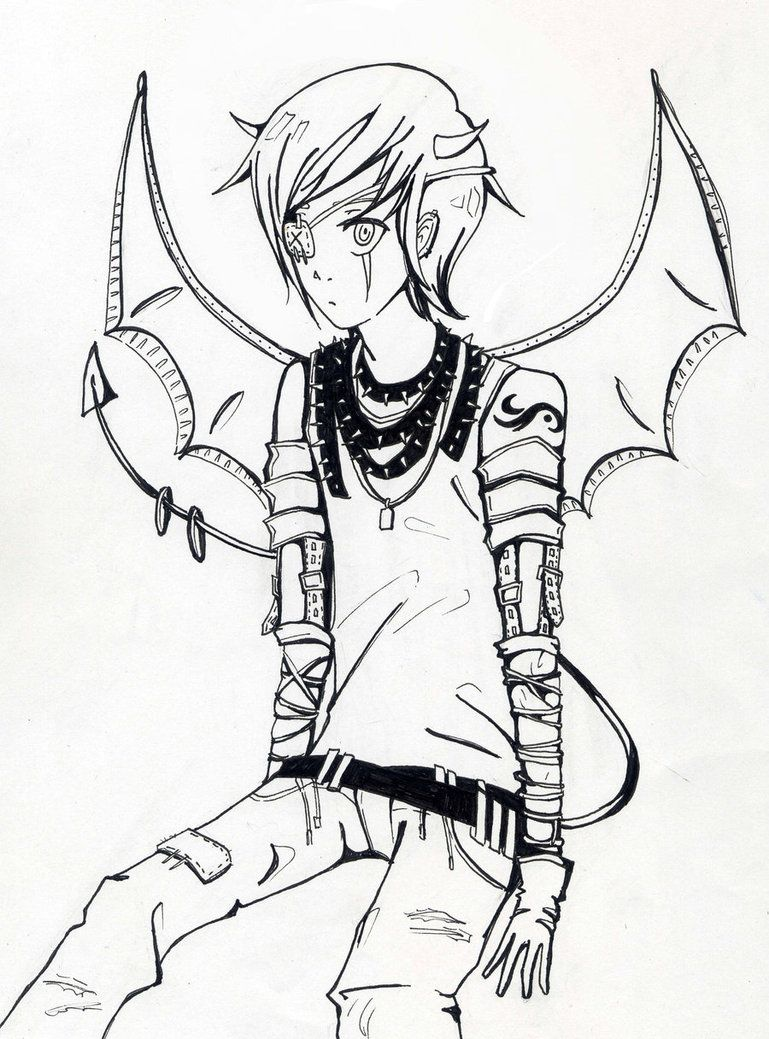 Demon boy by teicak99 Anime drawings boy, Demon drawings