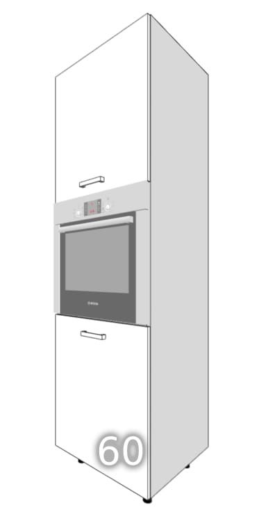 GLOSS Two-door standing cupboard for an oven 60 (Side …