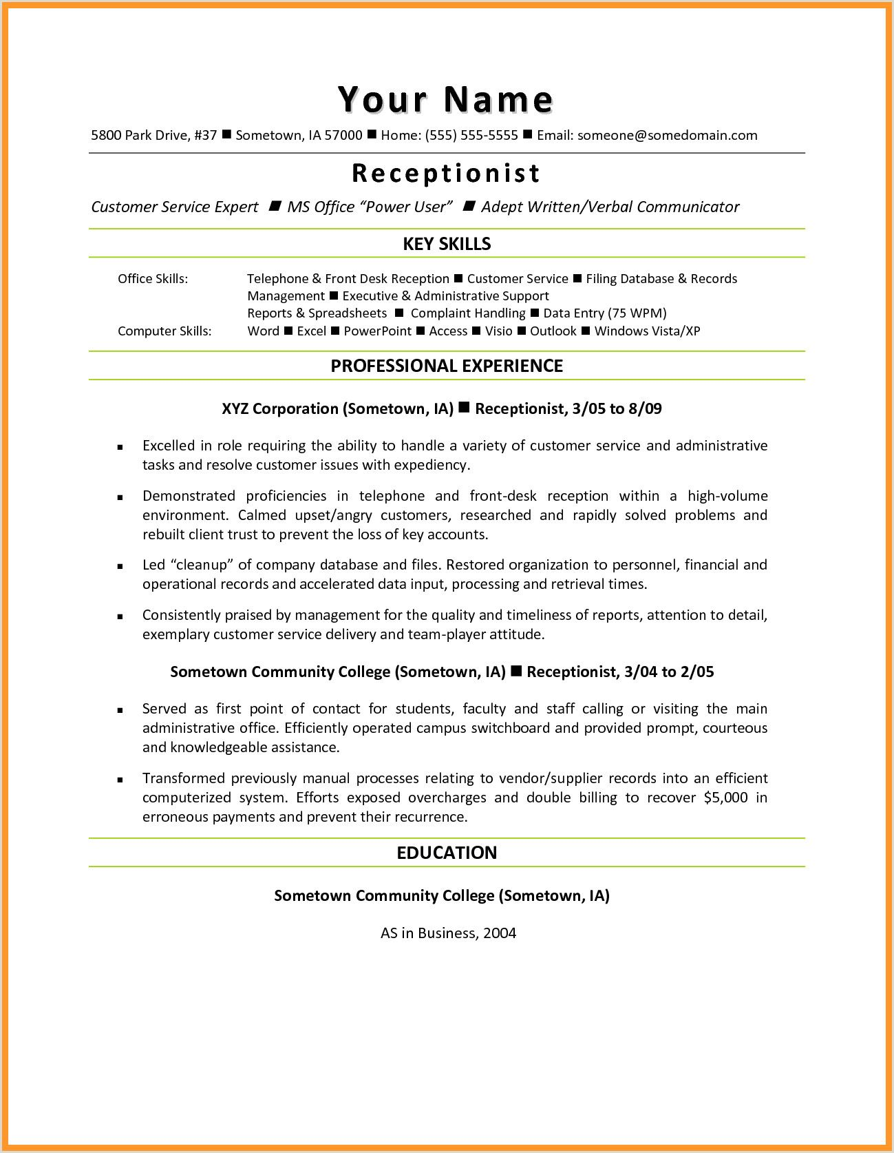 Resume For Front Desk Receptionist Job Resume Samples Receptionist Jobs Medical Receptionist