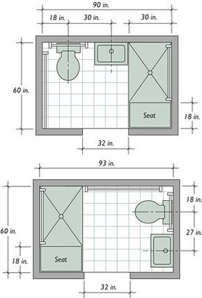 Bathroom Layout Dimensions Planos De Banos Pequenos Planos De