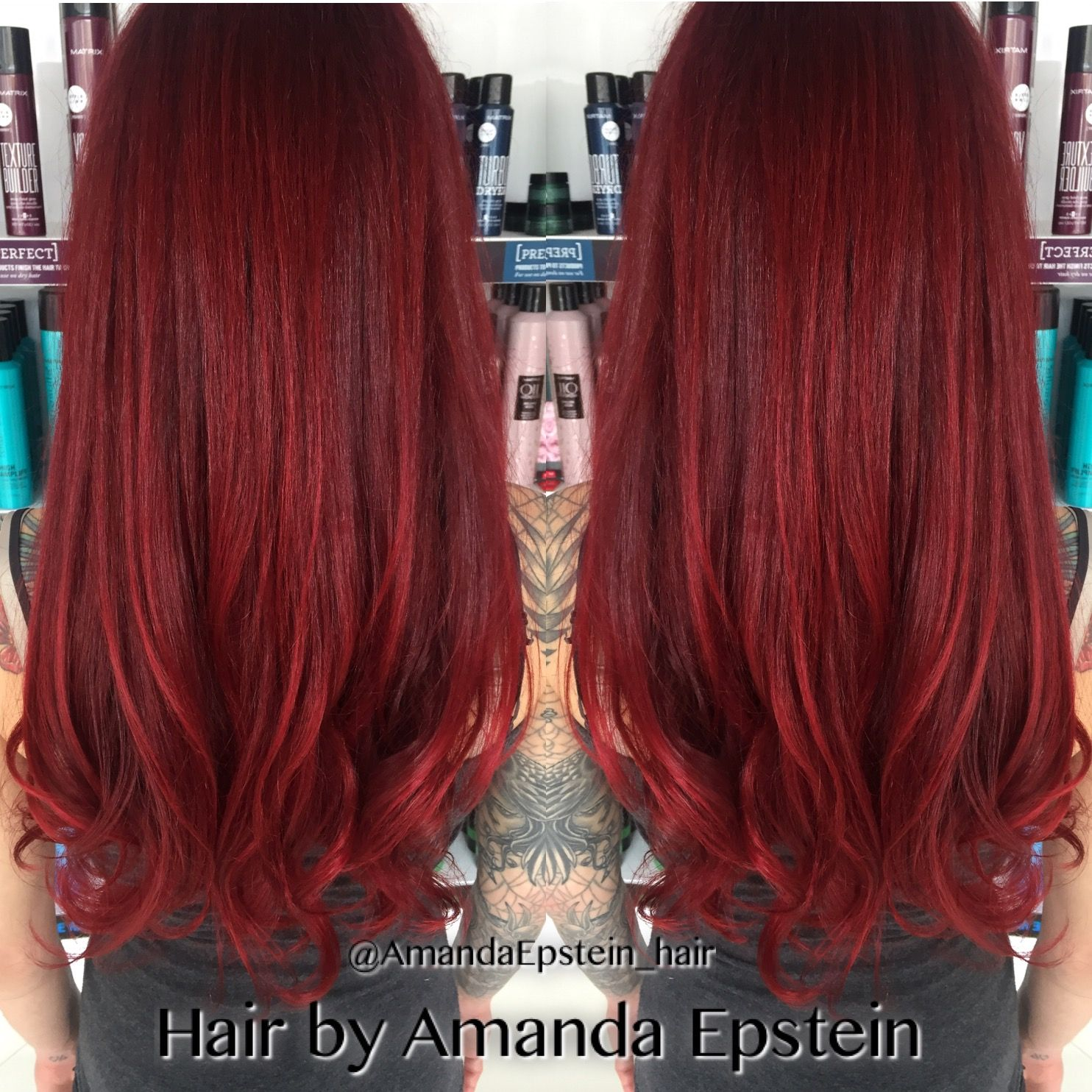 All Red Everything Redhair Red Matrix Socolor Colorsync Soboost Gorgeous Bright