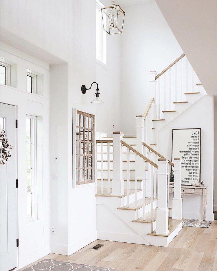 Modern Farmhouse Staircase Ideas : modern, farmhouse, staircase, ideas, Modern, Farmhouse, Staircase, Decor, Ideas, Decor,, Farmhouse,