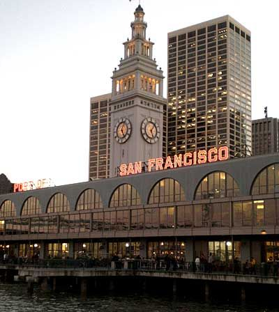 ferry building with your water arrival or departure!
