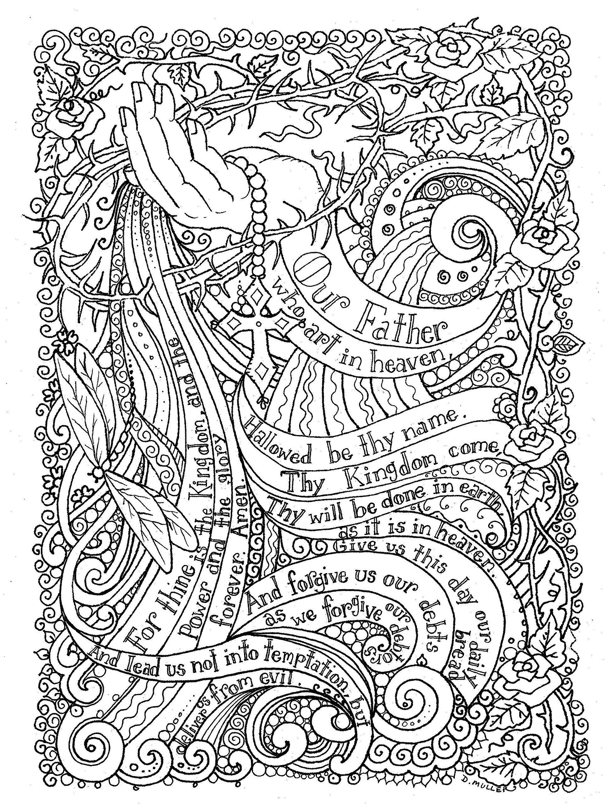 Adult Coloring Prayers To Color By Deborah Muller