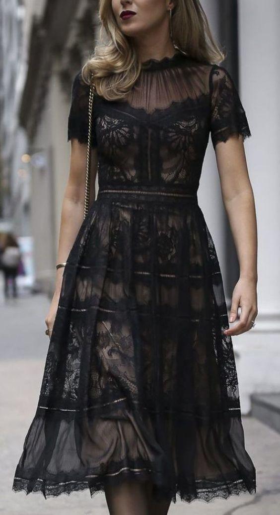 20 Super Billig Spitzenkleid Kaufen – Stil Spacez #blackdresscasual