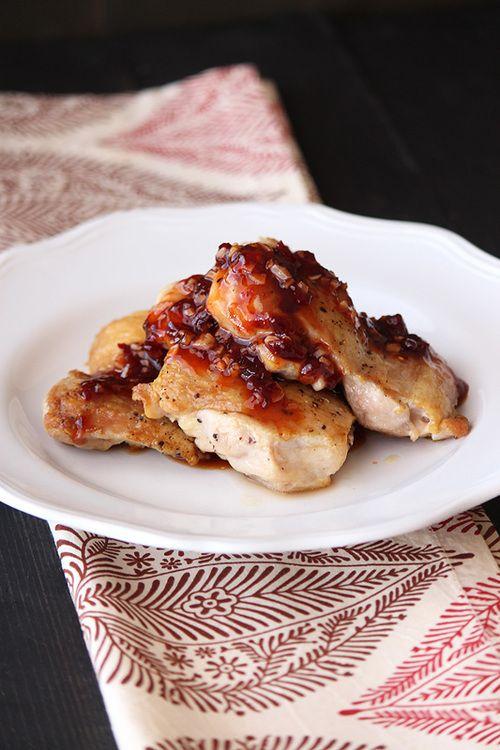 Chipotle Raspberry Chicken Thighs