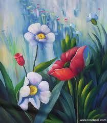 Tuval Calismalari Manzara Kolay Ile Ilgili Gorsel Sonucu Oil Painting Abstract Flower Painting
