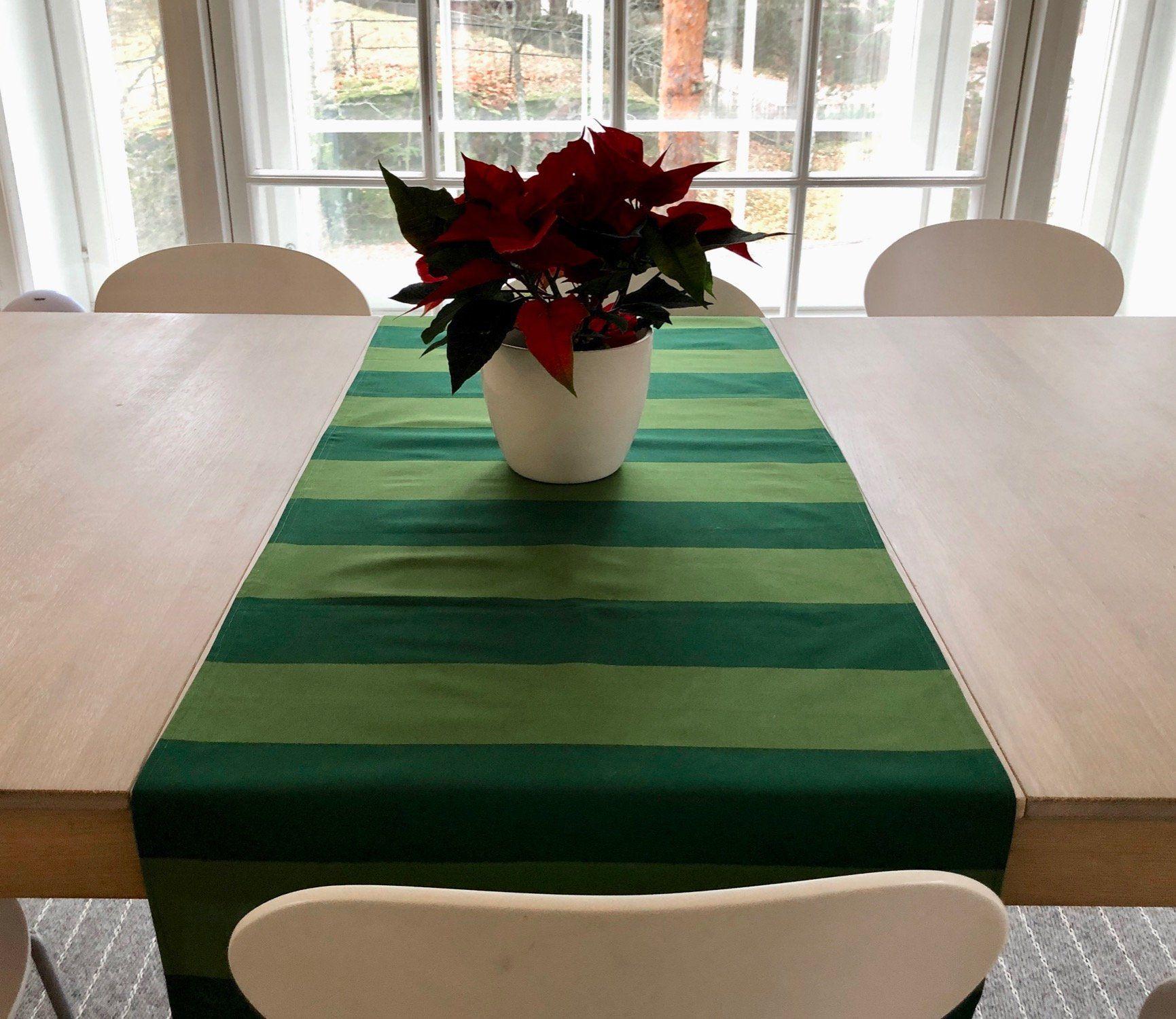 Vintage Marimekko Table Runner Green