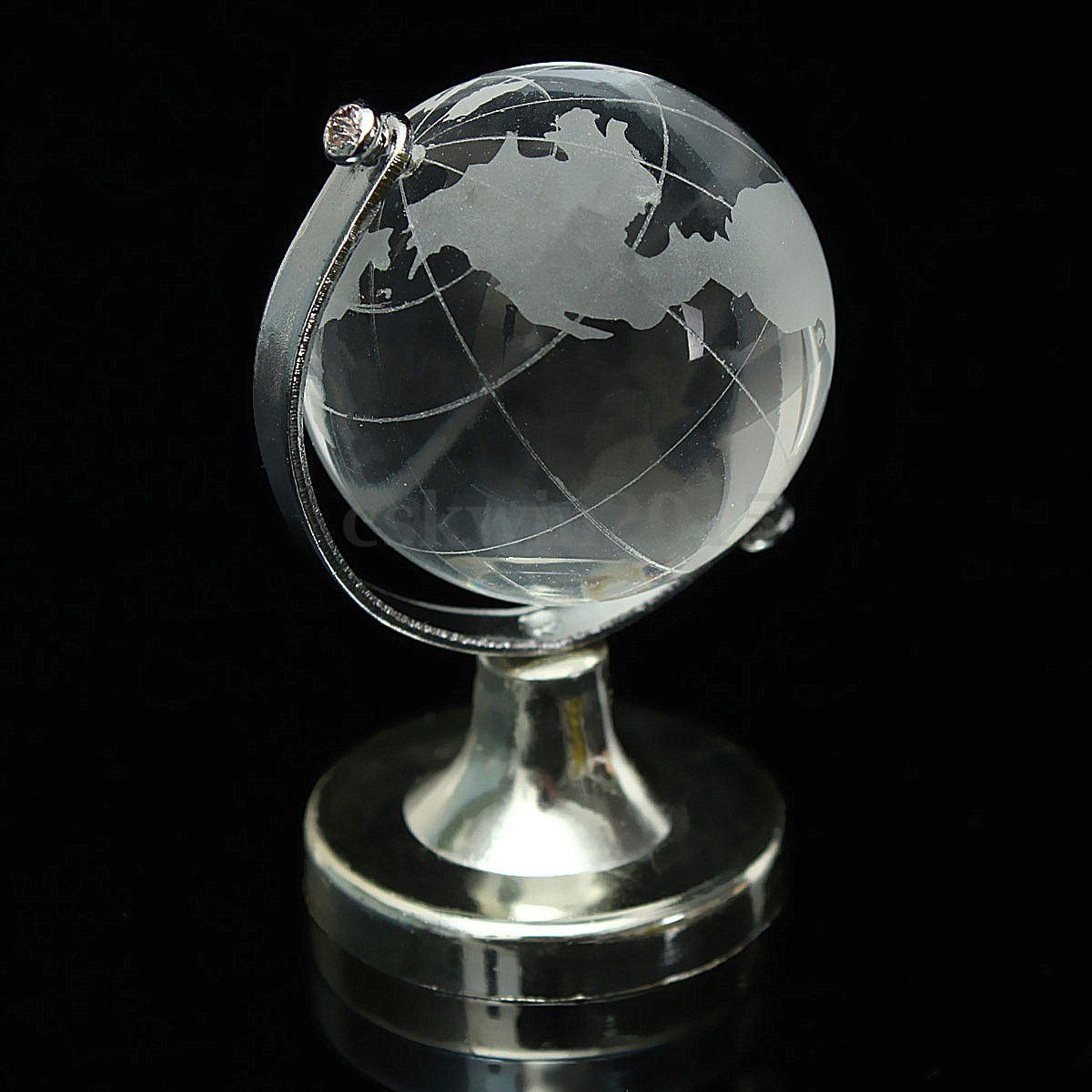 Modern clear world map globe crystal glass decoration for office modern clear world map globe crystal glass decoration for office desk decor us gumiabroncs Images