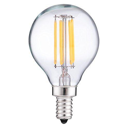 Luohaoshi 4w G165 Dimmable Led Filament Bulb 40watt Equivalent Led Bulbs Natural White 4000k Globe E12 Candelabra Base Ligh Led Bulb Filament Bulb Dimmable Led