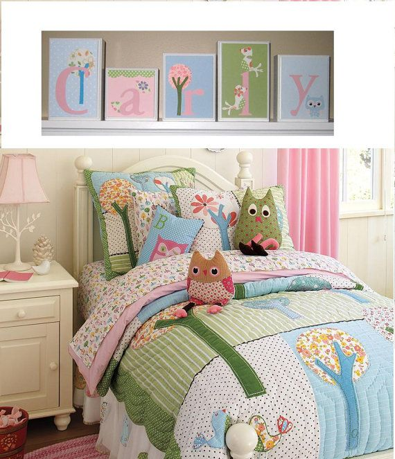 Pottery Barn Kids Brooke Owl Bedding With Images Girl Room