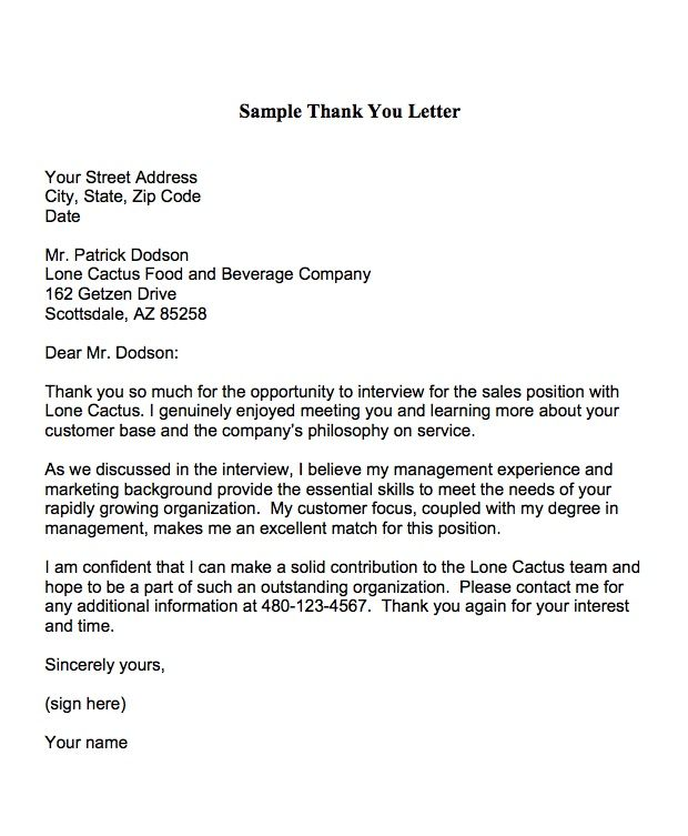 Thank You Letter Format Appointment Thank You Letter Is A Formal
