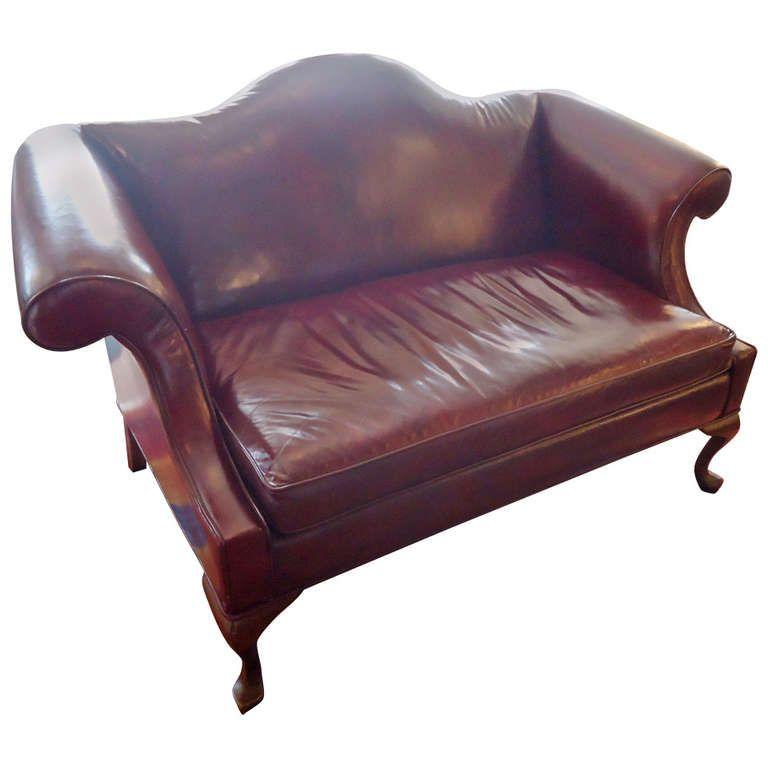 Leather Camelback Loveseat Leather Sofa Love Seat Sofa