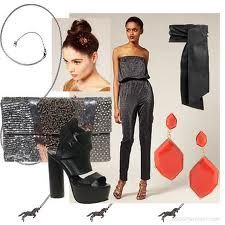 122f076d1 studio 54 fashion women: metallic grey, black and add bold color accessories