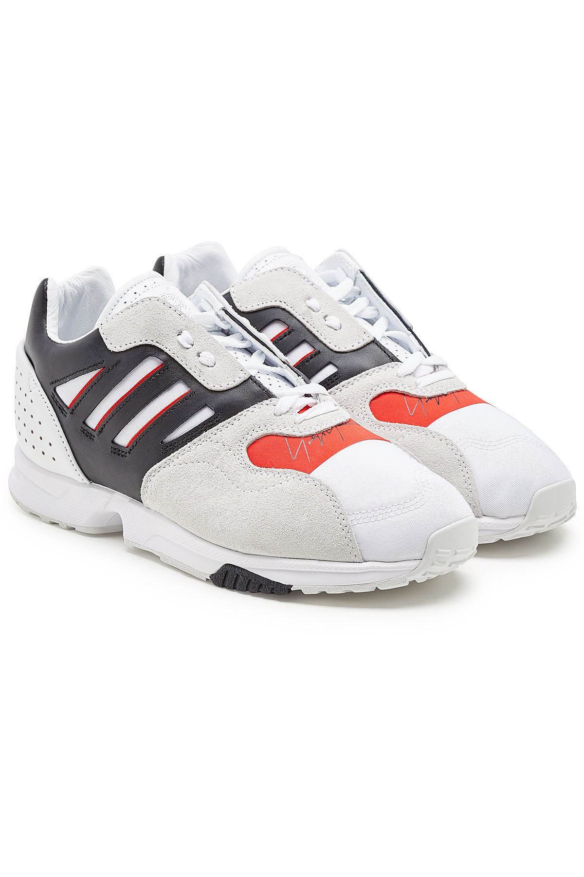 b17481a9d Y-3 ZX RUN SUEDE SNEAKERS WITH LEATHER.  y-3  shoes