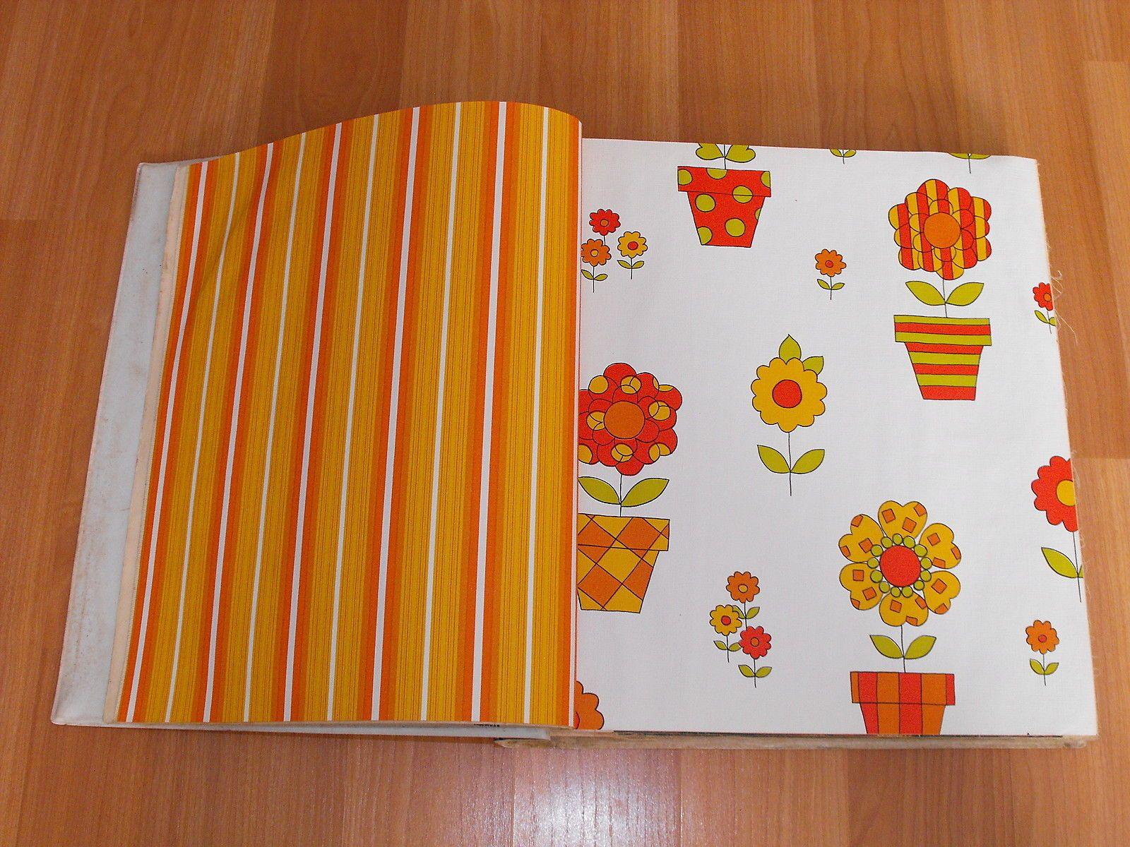Vtg 60 70's All for Kitchen Ultra Tex Fabric Back Vinyl