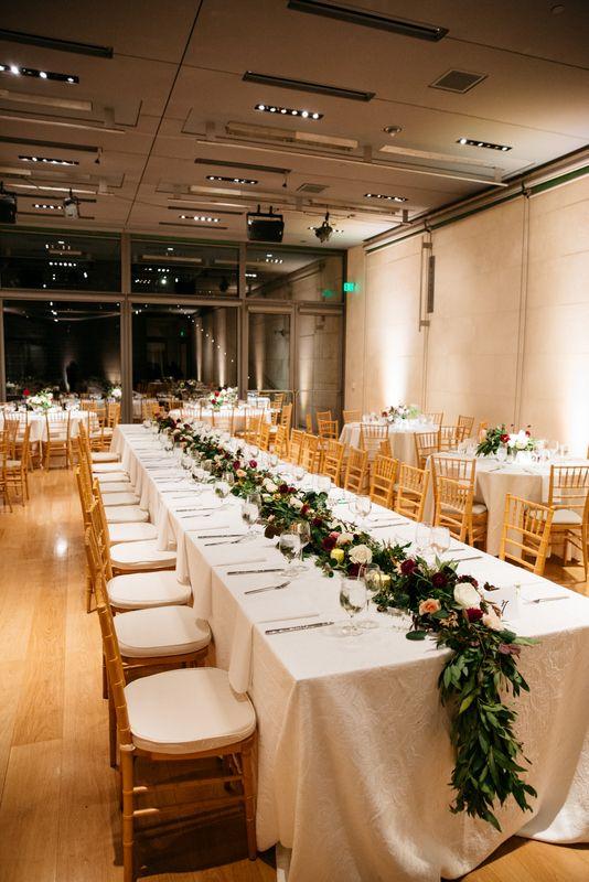 Ivory, Burgundy, & Green Wedding; Nasher Sculpture Center Wedding http://significanteventsoftexas.com