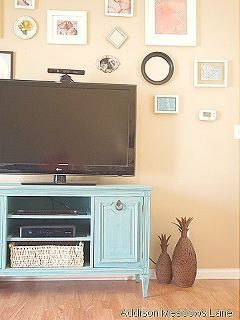 how to turn a buffet into a tv stand, how to, painted furniture
