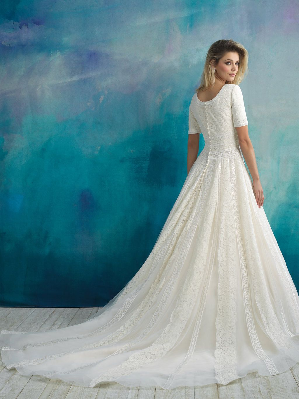 modest wedding dress perfect for lds temple wedding lace ballgown ...