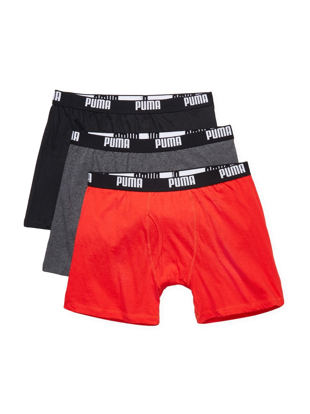 Puma Mens Cotton Volume Boxer Brief 3 Pk Red Size S