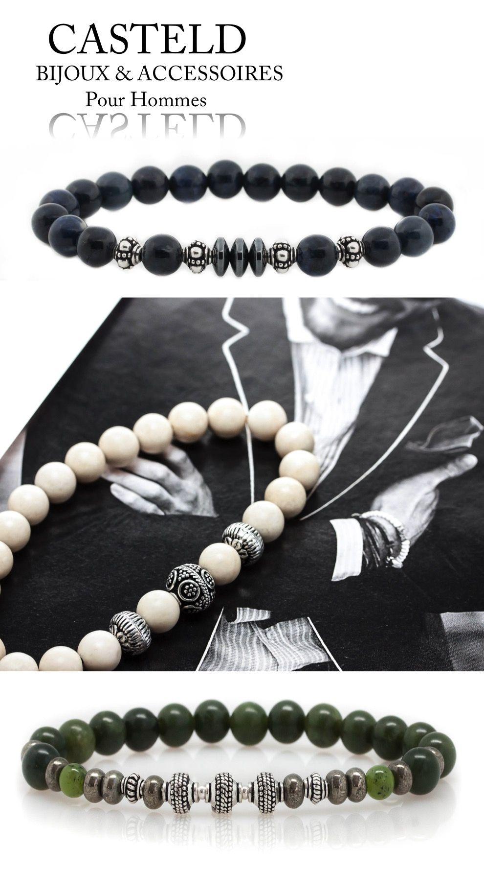 pingl par casteld sur bijoux pour homme bijoux homme bracelet homme et bracelet perle. Black Bedroom Furniture Sets. Home Design Ideas