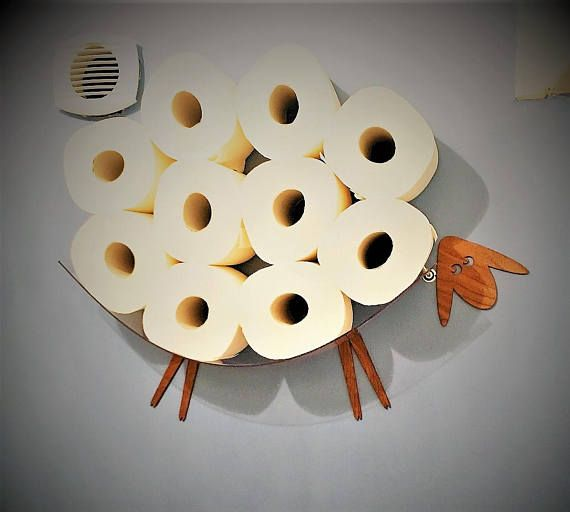 SHEEP-shelf - a wall shelf for storing toilet paper rolls (7-30 ...