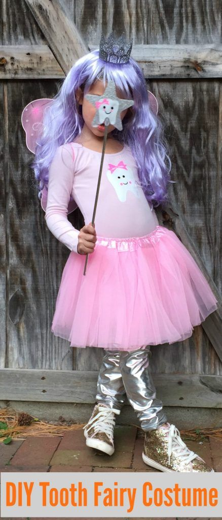 Easy DIY Halloween Costume for Kids The Tooth Fairy #diyhalloweencostume #toothfairycostume & Easy DIY Halloween Costume for Kids: The Tooth Fairy | Pinterest ...