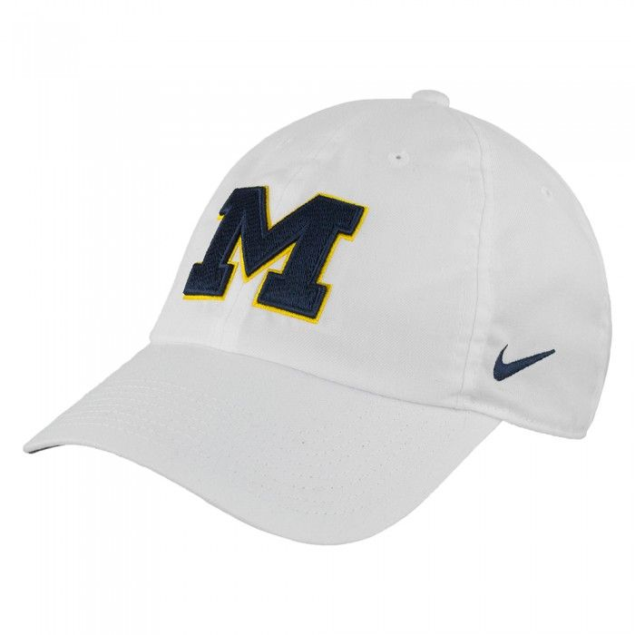 new styles 4f7c2 4793f University of Michigan 2017 Nike Dri Fit Heritage 86 Authentic Adjustable  hat At Campus Den
