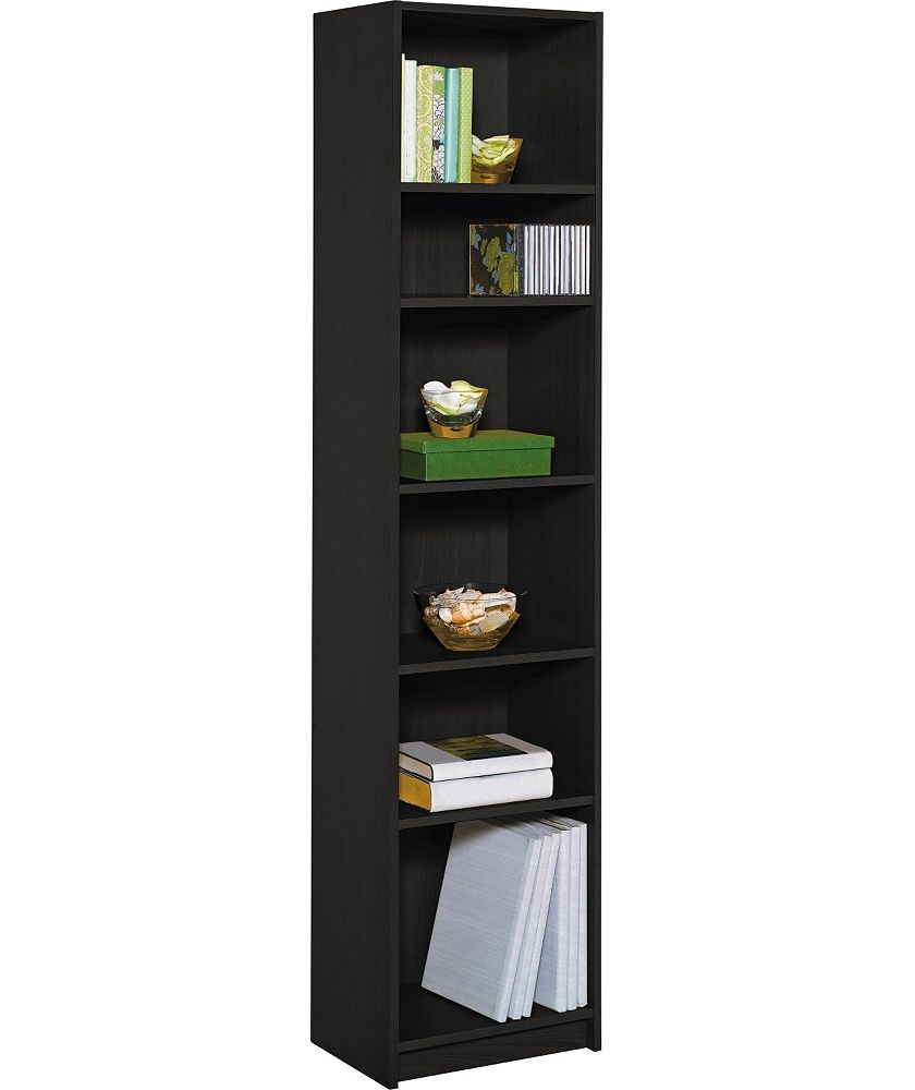 save off 9aa9f f5c59 Home Maine Half Width Bookcase - Black Ash Effect | Home ...