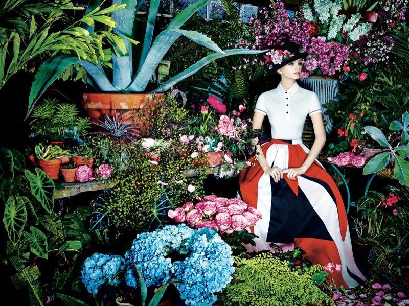alice olivia spring 2014 campaign1 Alice + Olivia Reveals Botanical Spring/Summer 2014 Campaign