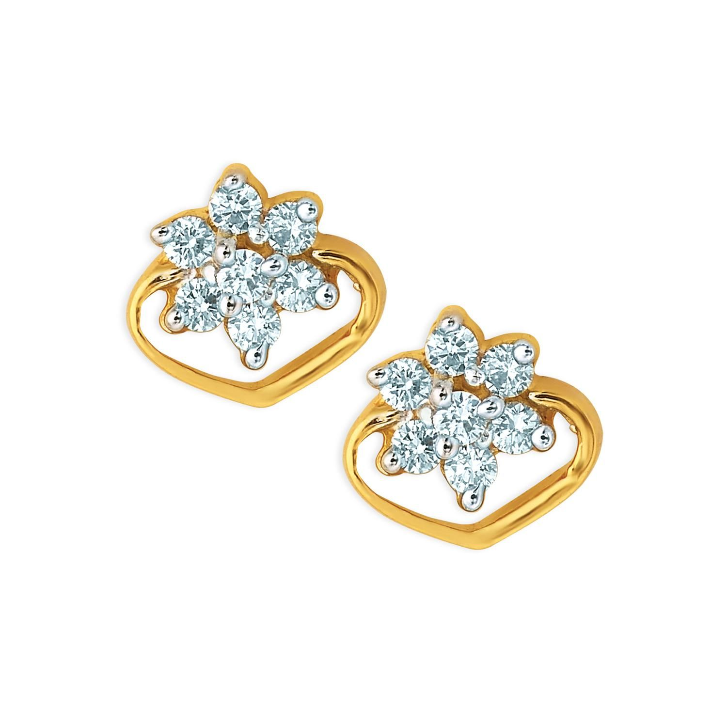 Diamond Earrings Online At Best Rates In India An
