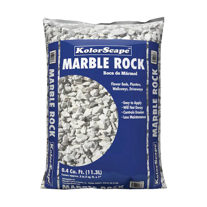Kolor Scape 0 4 Cu Ft Gray Marble Chips Lowes Com In 2020 Landscaping Rock Landscaping With Rocks Marble Rock