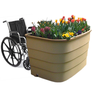 Wheelchair Accessible raised garden bed. Green Circle Garden ... on circle flower beds, circle vegetable garden, circle garden design, circle baby beds, circle wood, circle garden seating, circle hospital beds, circle steps,