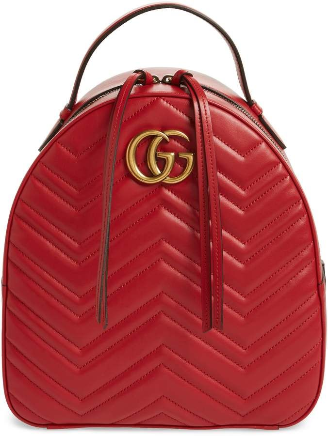 b0173d4f851 Gucci GG Marmont Matelasse Quilted Leather Backpack
