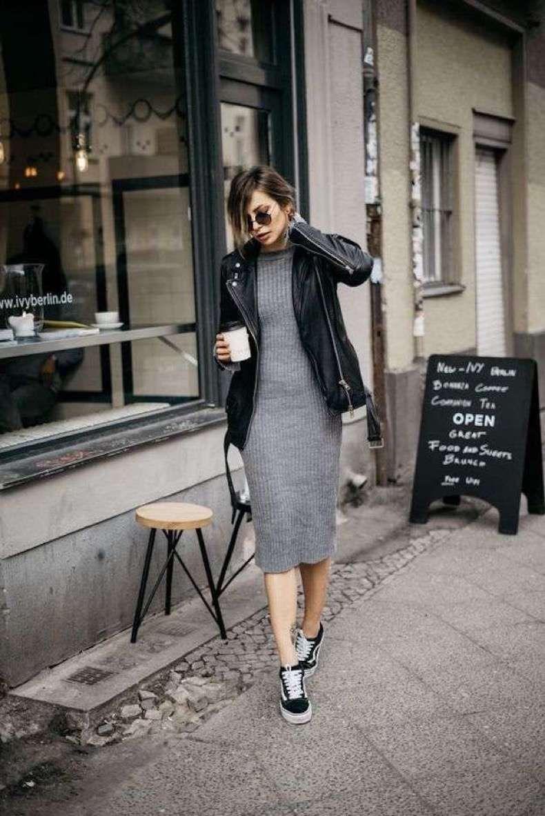 vestidos con zapatillas vans