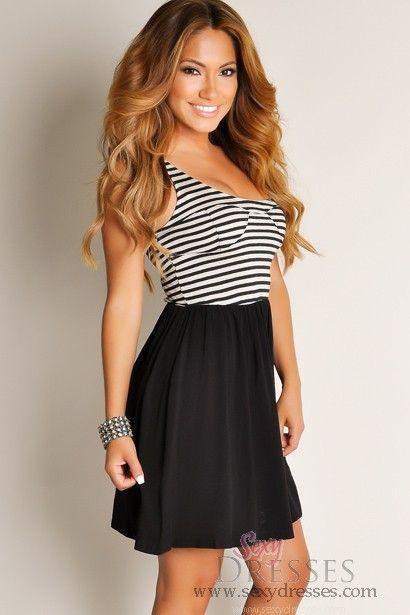 82d128230b4 Cute Black Summer Love Flowy A-Line Tunic Dress