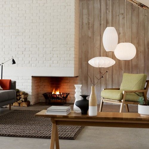 George Nelson Bubble Lamps   fireplace HOME Pinterest