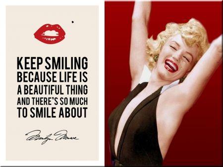 Marilyn Monroe Keep Smiling - Actresses Wallpaper ID 1287891 - Desktop Nexus People