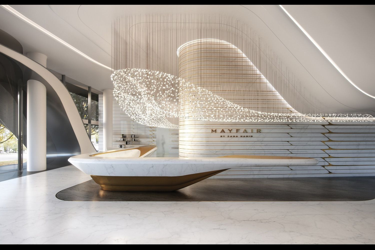 Gallery Of Zaha Hadid Architects Reveal Residential Tower In