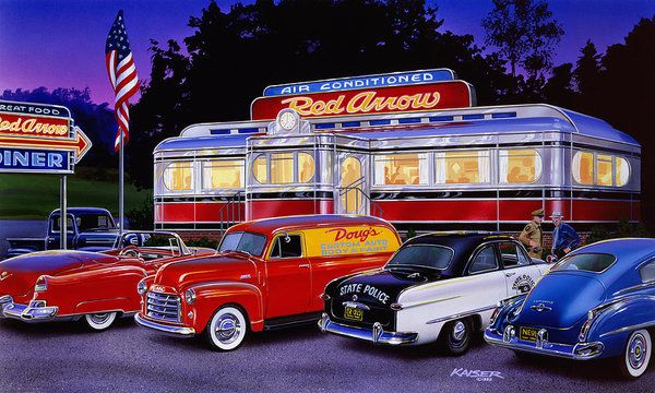 Red Arrow Diner Poster By Mgl Meiklejohn Graphics Licensing With