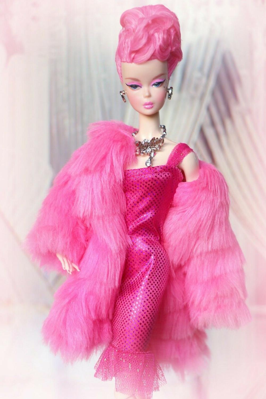 Barbie Silkstone Swarovski Chanel Pink Winter Fashion Model Collector Bfmc Ebay Custom Barbie Barbie Fashion Beautiful Barbie Dolls