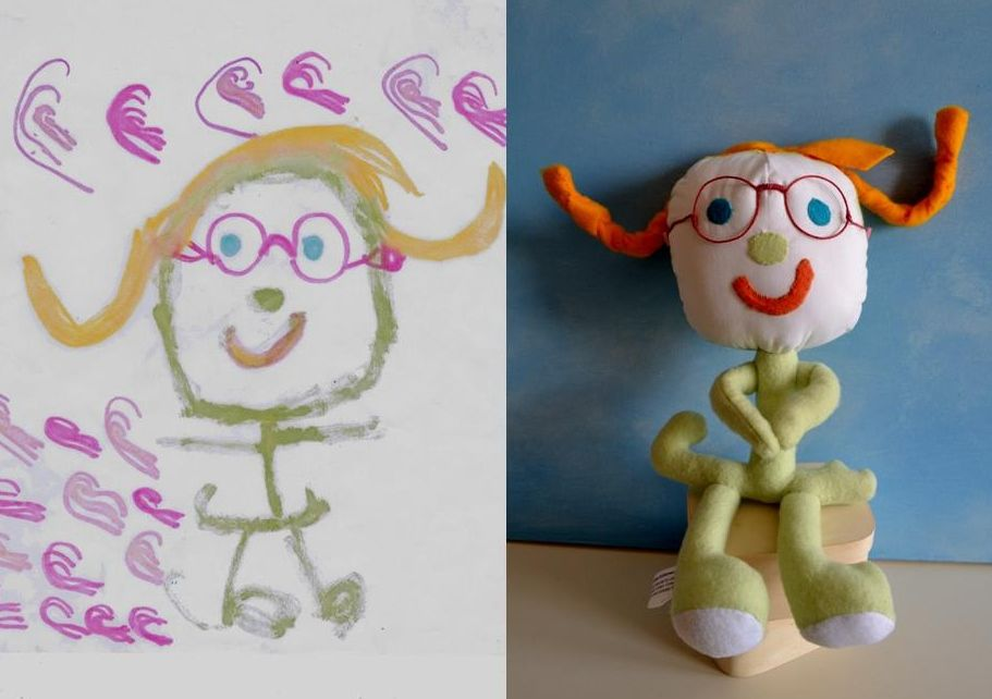 This woman takes your child's art and creates a toy from it.  So fun!