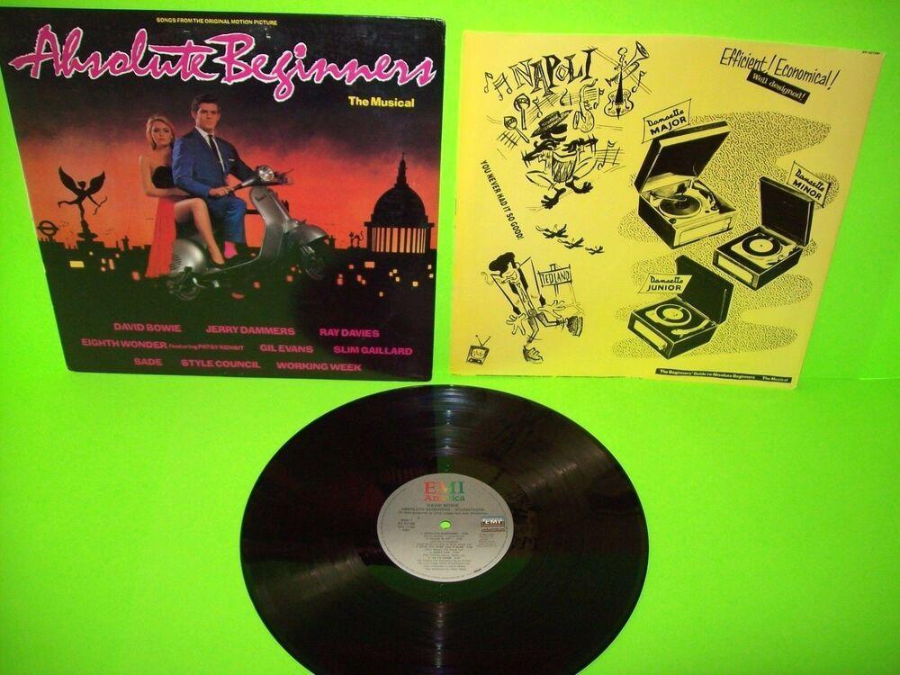 David Bowie Absolute Beginners Original Vinyl Lp Record Crc Club Edition Nm 1980sdancepopelectrosynth David Bowie Absolute Beginners David Bowie Bowie Heroes