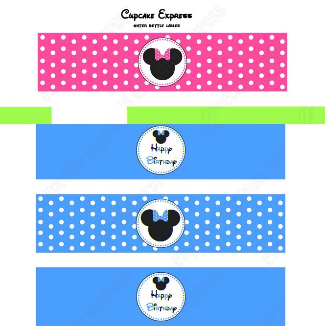image regarding Free Printable Minnie Mouse Water Bottle Labels named No cost+Printable+Minnie+Mouse+Drinking water+Labels Avery birthday in just