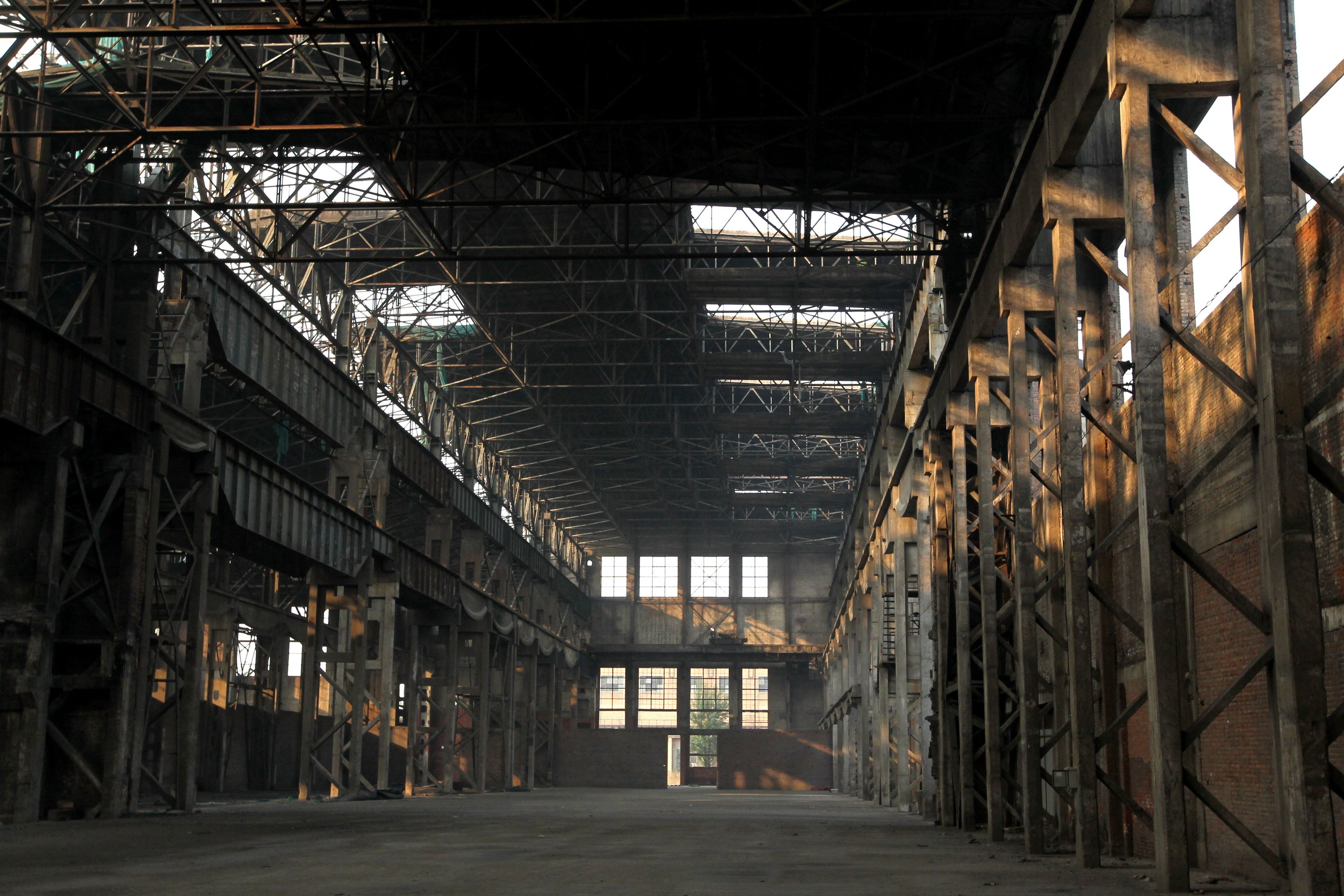 Abandoned factory night
