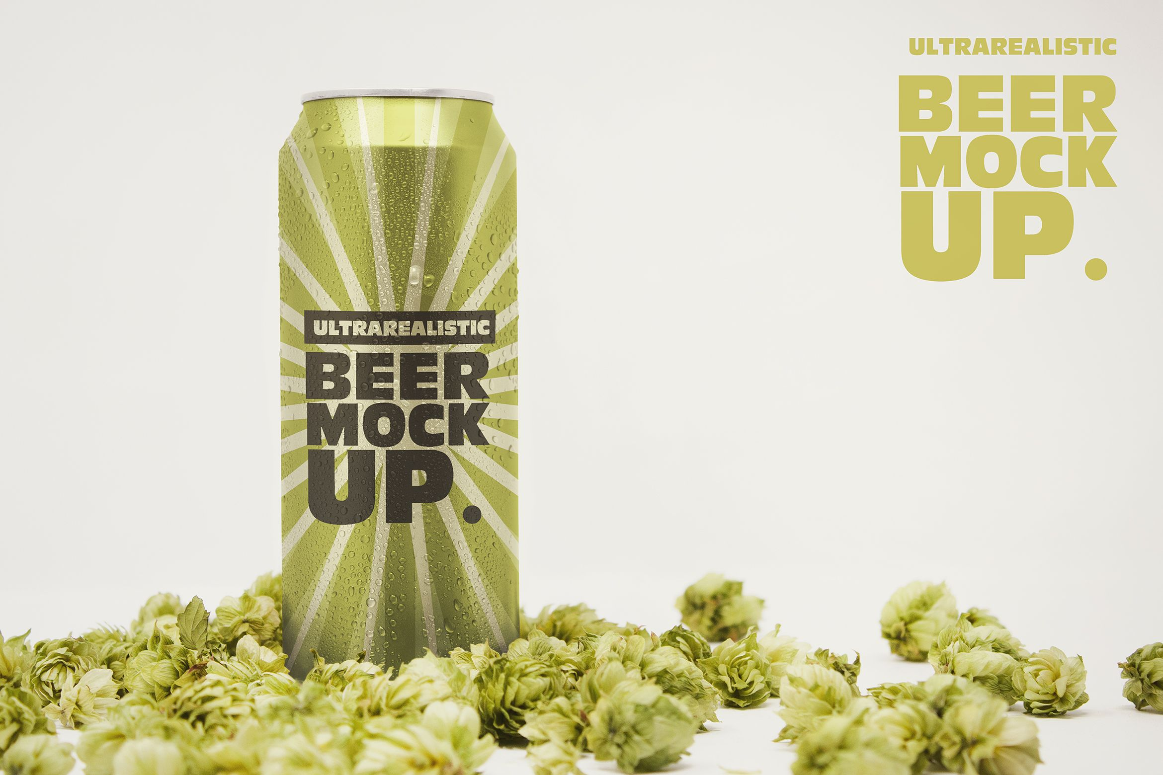 Front 16oz Beer Can Mockup Graphic By Smartdesigns Creative Fabrica Mockup Mockup Design Beer Can