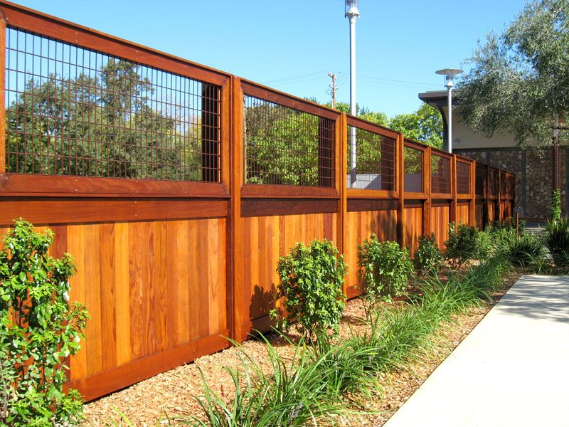 Wood Wire Fence Fences Custom Gates