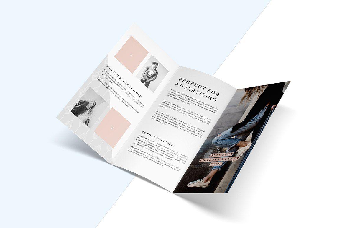 malina trifold brochure pattern advertising flyers brochures