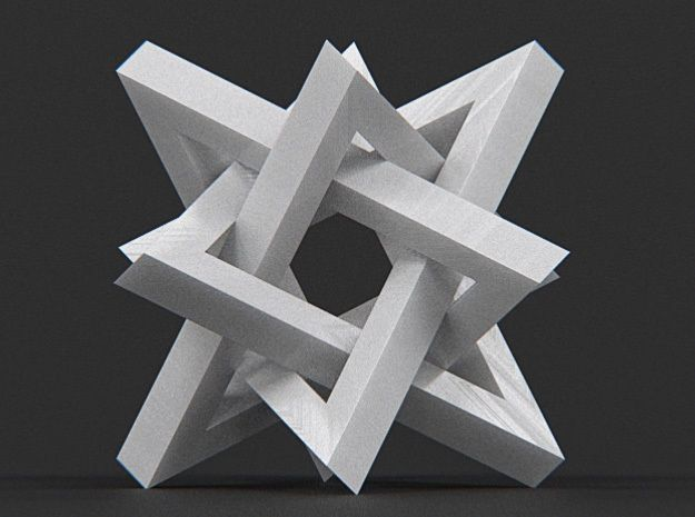 Orderly Tangle 02 - Four Hollow Triangles 3D Model 3D